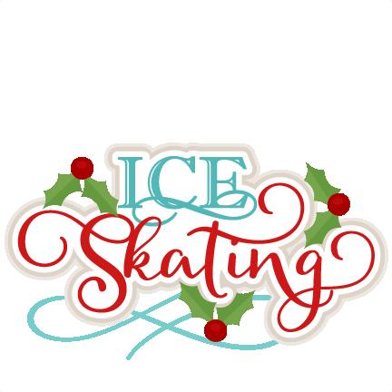 432x432 Ice Skating Title Scrapbook Cut File Cute Clipart Files