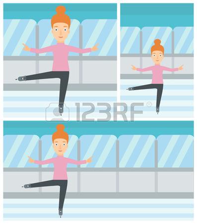 397x450 Caucasian Figure Skater Posing On Skates. Professional Figure