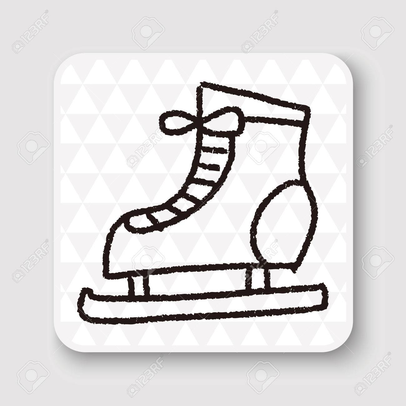 1300x1300 Doodle Ice Skating Royalty Free Cliparts, Vectors, And Stock