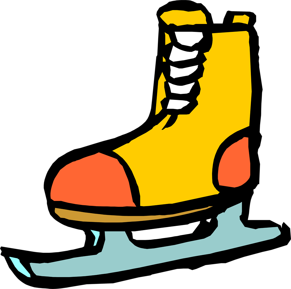 958x952 Shoe Clipart Ice Skating
