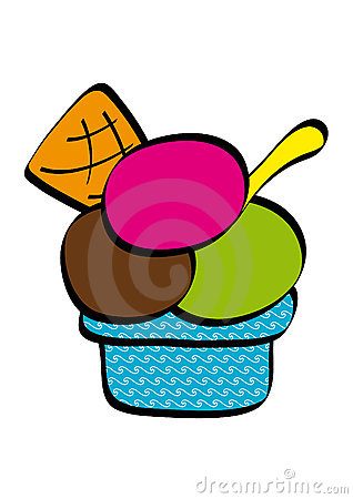 318x450 Dish Of Ice Cream Clipart