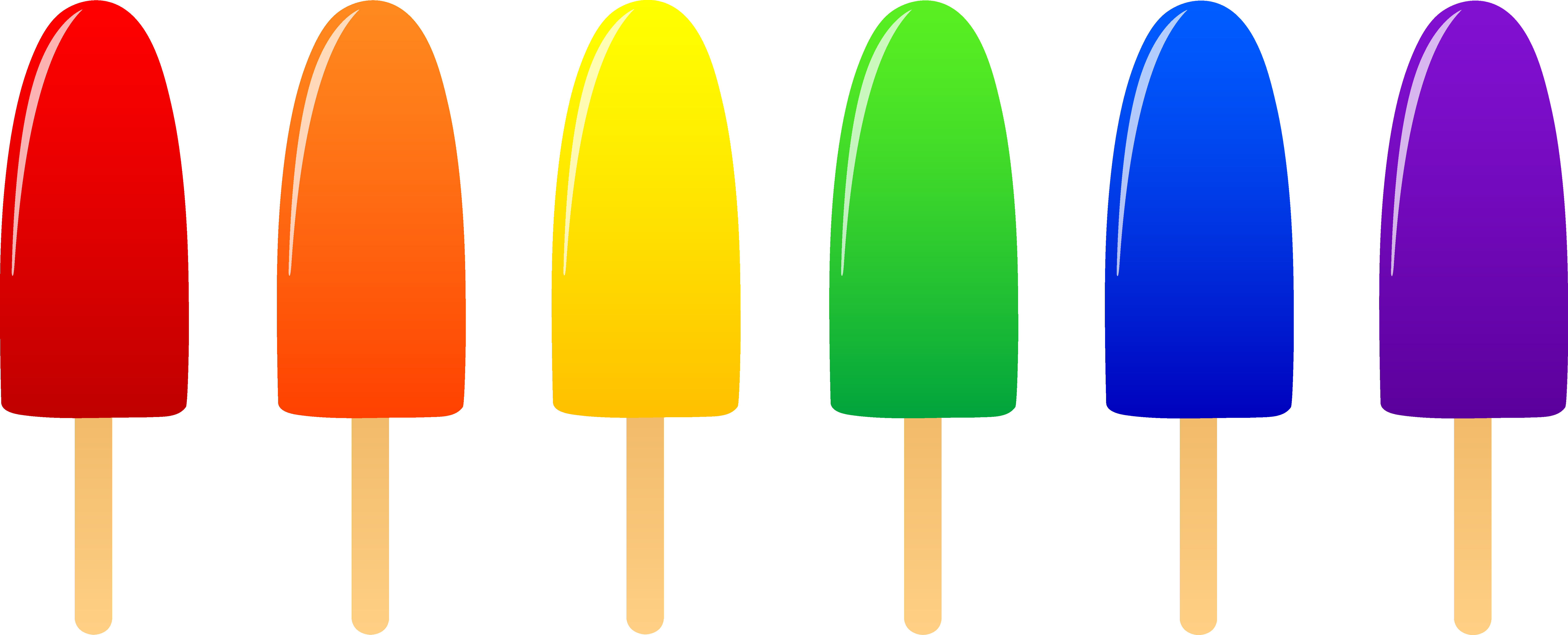 7787x3152 Ice Cream clipart rainbow