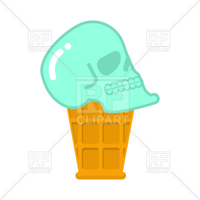 400x400 Skull Ice Cream. Royalty Free Vector Clip Art Image