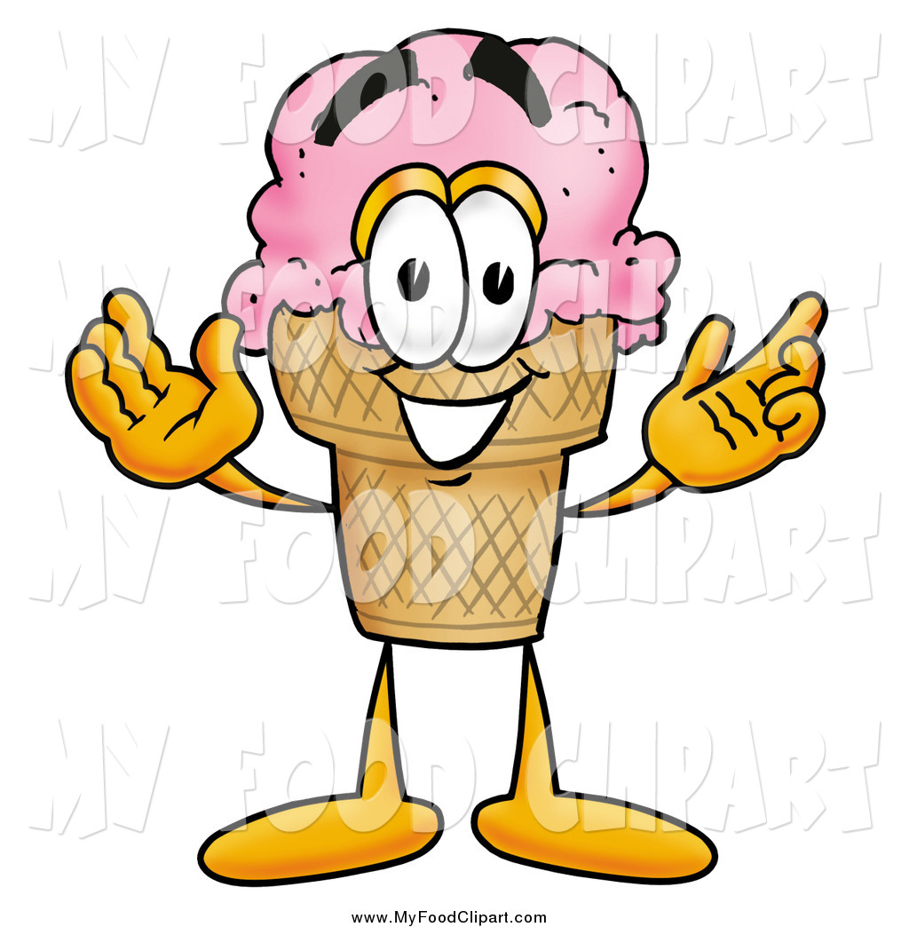 1024x1044 Food Clip Art of a Ice Cream Cone Character with Welcoming Open