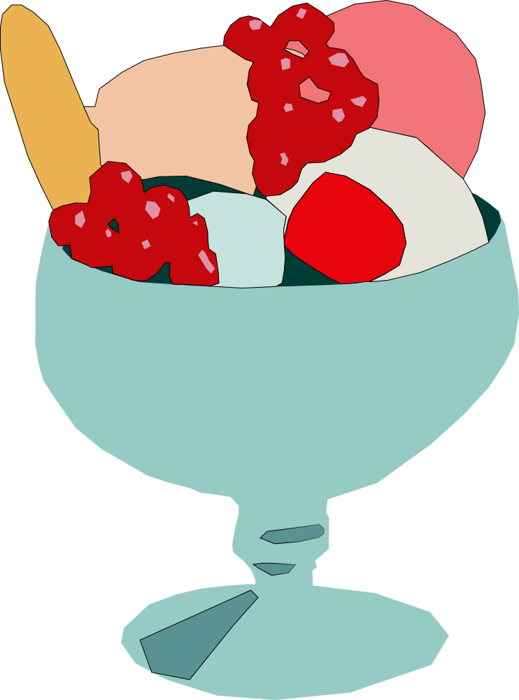 742x1000 Free Ice Cream Cup Clipart Image