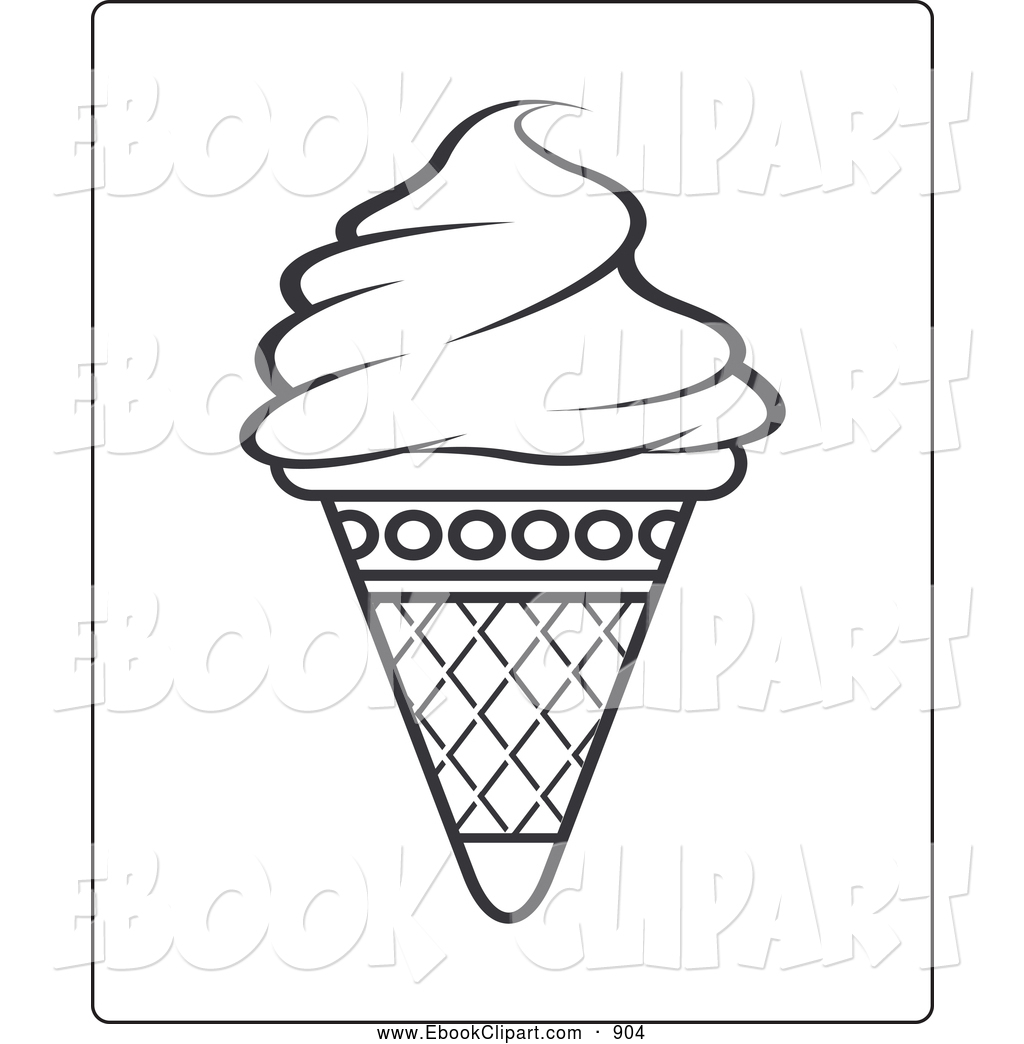 1024x1044 Waffle Cone clipart coloring page