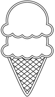 226x399 3 scoop ice cream cone digital image (cut files and sentiments as