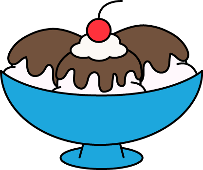 417x351 Hot Fudge Sundae Clip Art