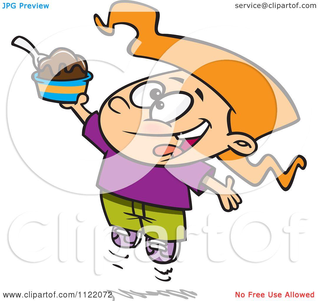 1080x1024 Royalty Free Vector Clip Art Illustration of an Ice Cream Sundae