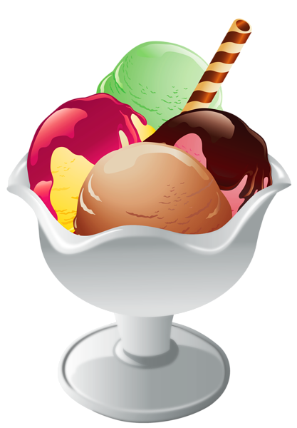 417x600 Ice Cream Clipart Transparent