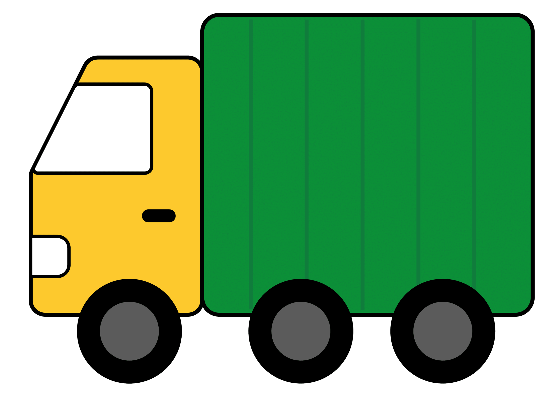 2358x1666 Truck Clipart Free