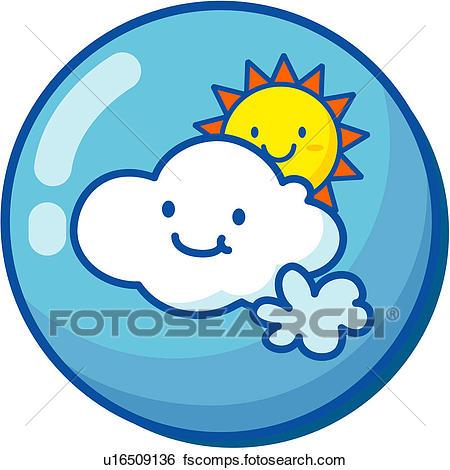450x470 Clip Art Of Sunshine, Cloud, Natural Phenomenon, Logo, Icon