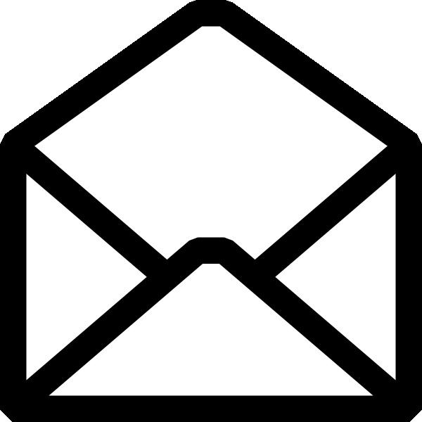 600x600 Open Envelope Clip Art