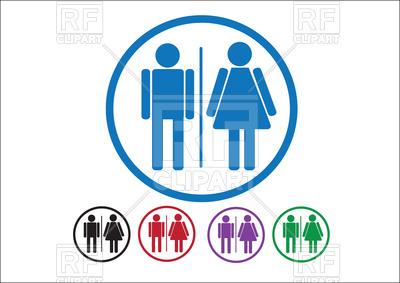 400x283 Pictogram Man Woman Icons, Toilet Sign Royalty Free Vector Clip