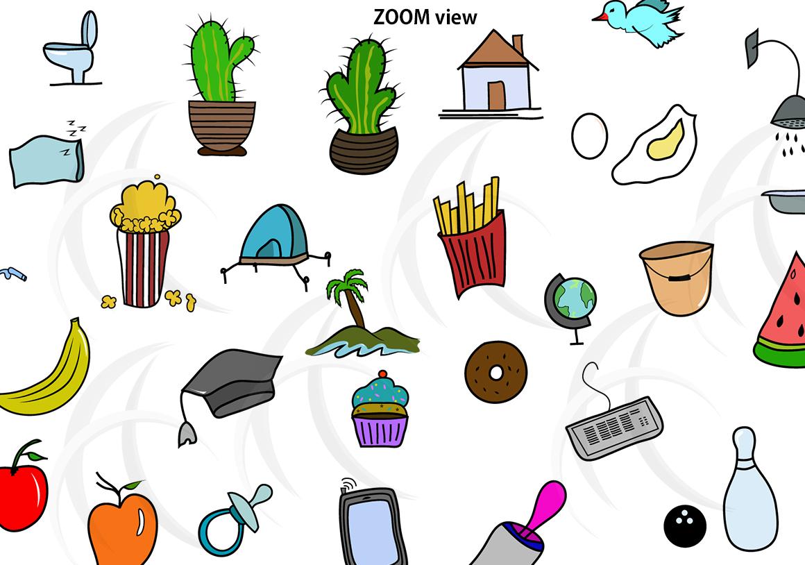 1160x814 Hand Drawn Doodle Vector Clipart Clip Art Bundle Vector Bundle