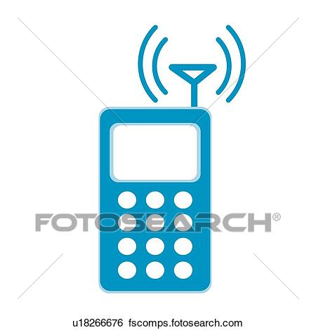 450x470 Clip Art Of Antenna, Icons, Cell Phone, Mobile Phone, Electronics