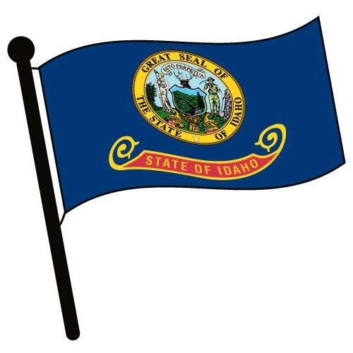 500x500 Idaho Waving Flag Clip Art