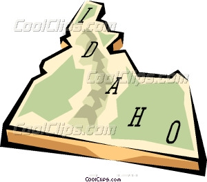 300x264 Idaho State Map Vector Clip Art