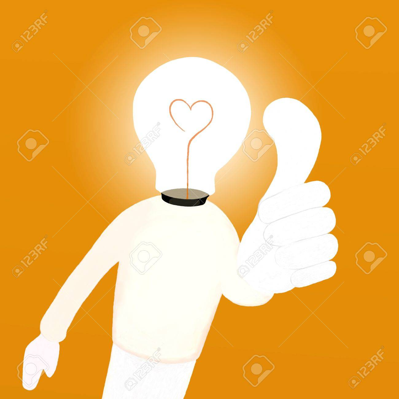 Idea Light Bulb Cartoon