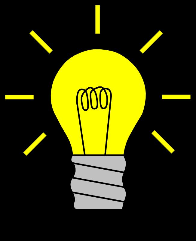 652x800 Light Bulb Idea Clipart
