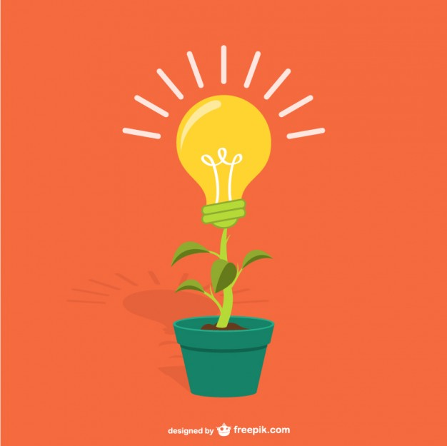 626x625 Plant With Lightbulb Cartoon Vector Free Download