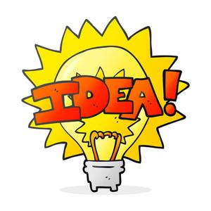 300x300 Freehand Drawn Cartoon Idea Light Bulb Symbol Royalty Free Stock
