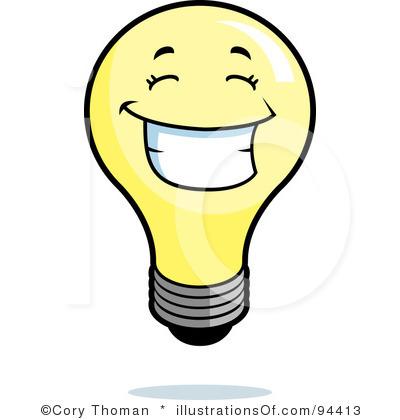 400x420 Idea Light Bulb Clip Art Black And White Clipart Panda