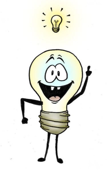 375x600 Idea Light Bulb Cartoon Clipart Panda