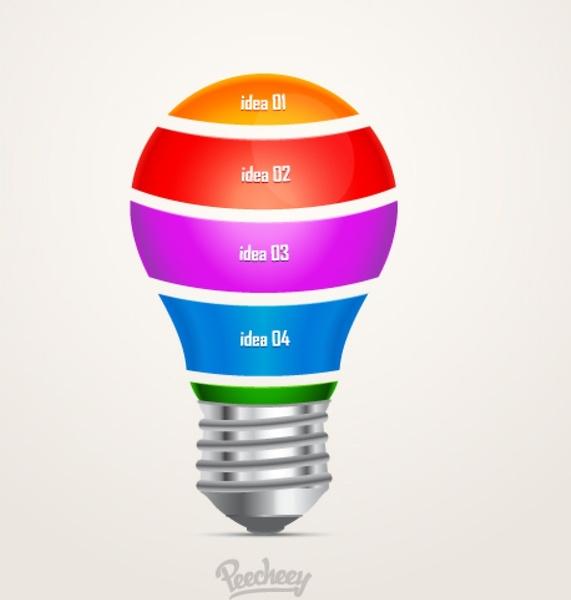 571x600 Idea Light Bulb Free Vector In Adobe Illustrator Ai ( Ai ) Vector