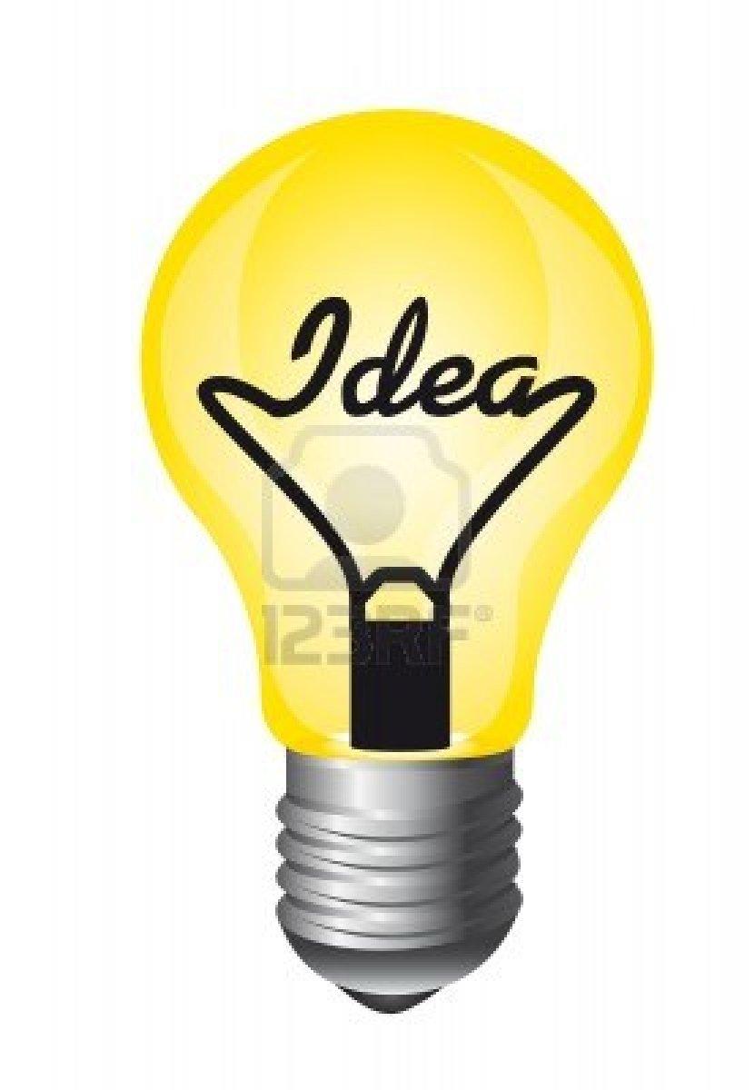 831x1200 Light Bulb Idea Clip Art