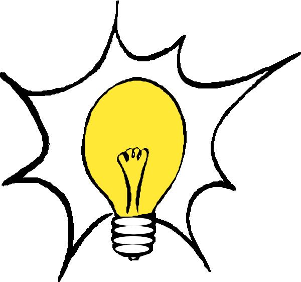 600x561 Bright Idea Light Bulb Clipart