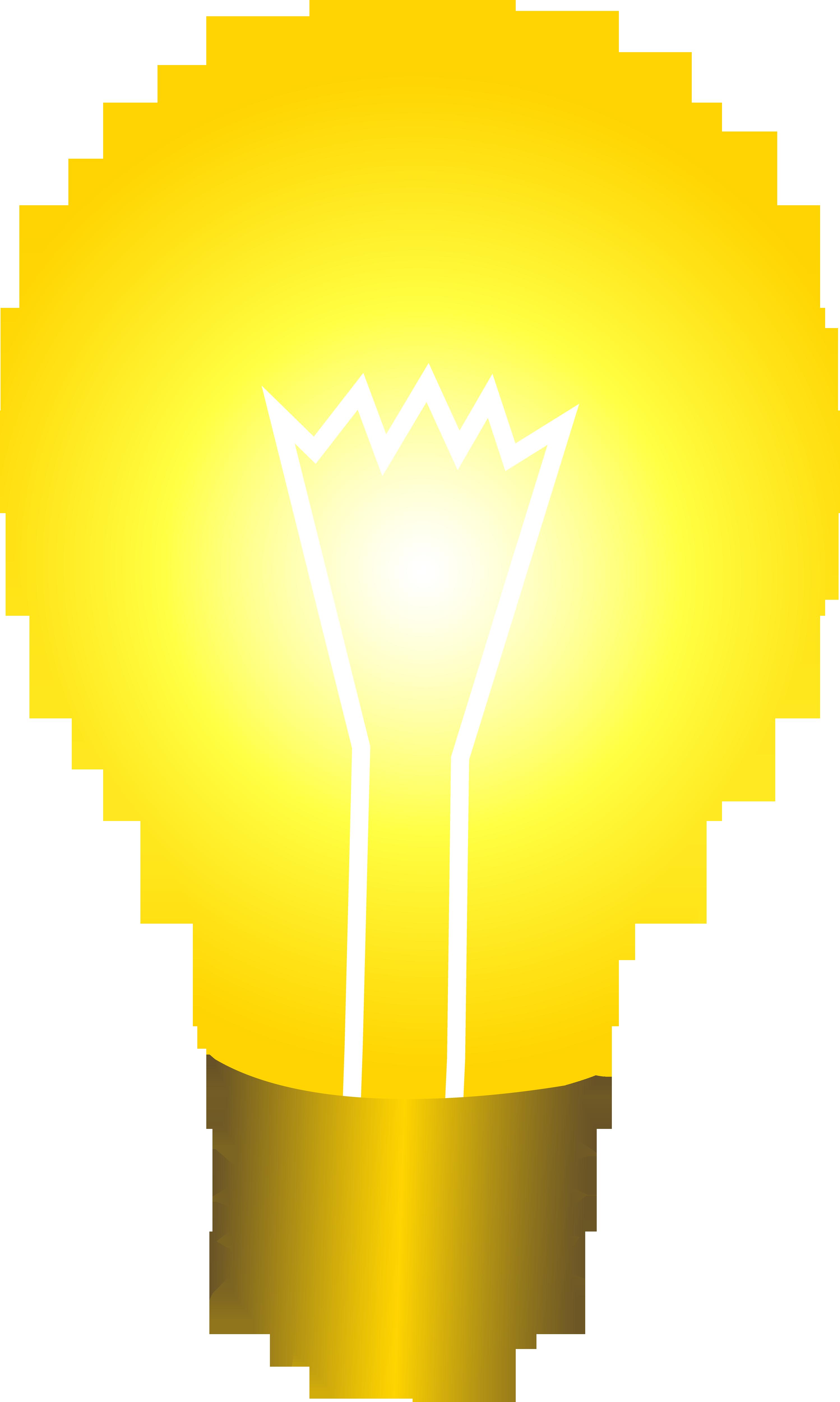 2997x5000 Bright Yellow Idea Light Bulb Free Clip Art