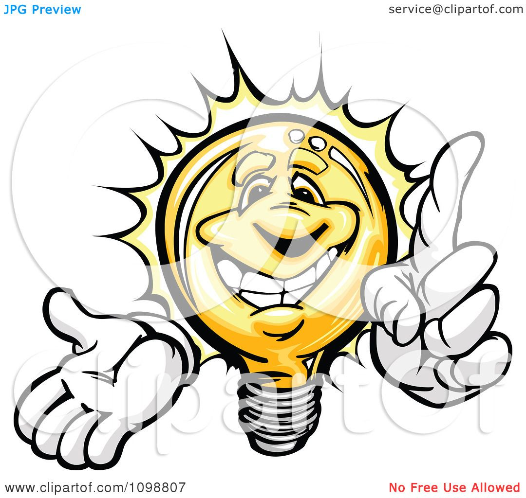 1080x1024 Clipart Smart Yellow Light Bulb With A Bright Idea