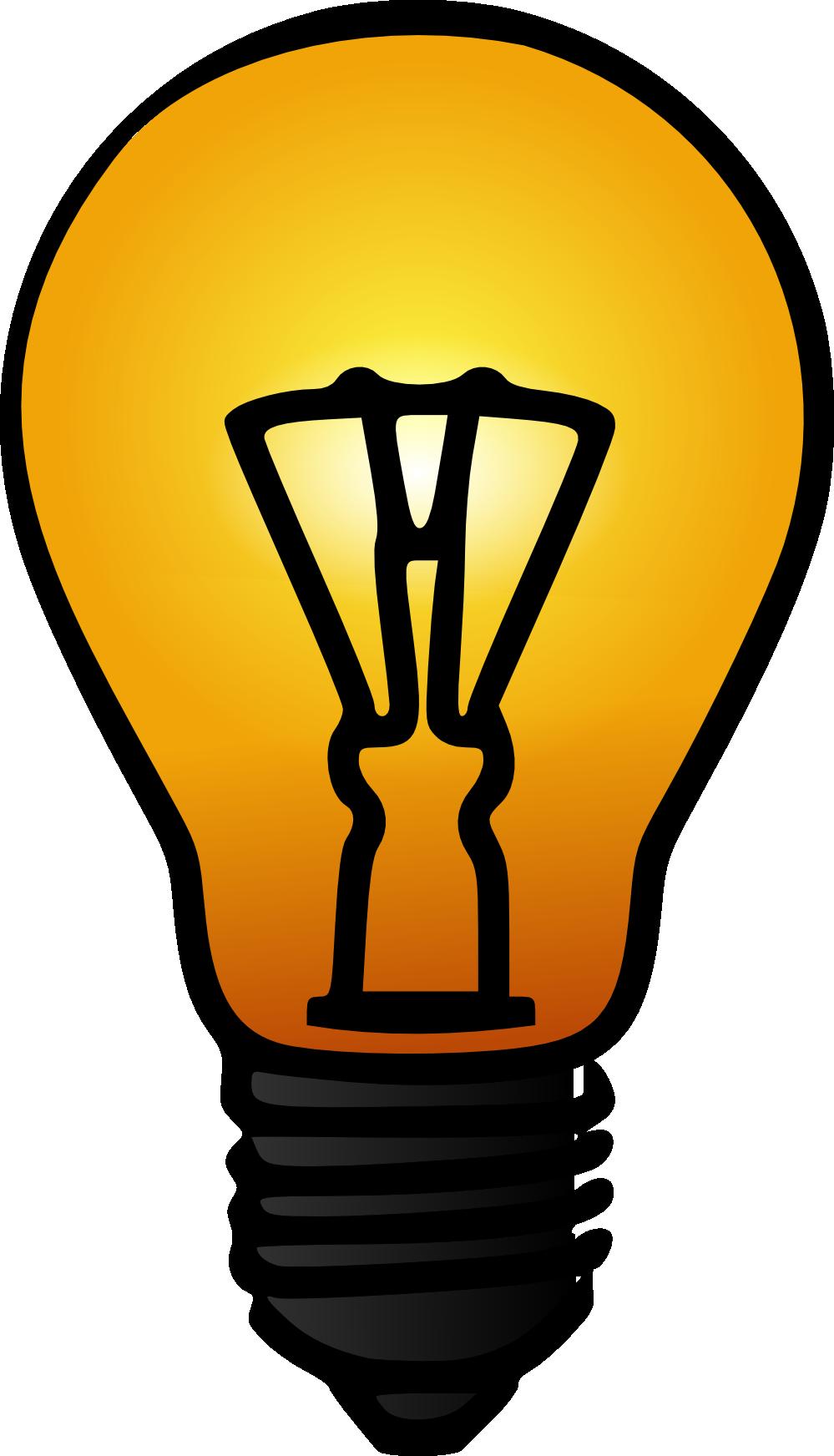 999x1744 Clipart Of A Light Bulb