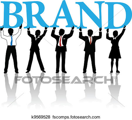 450x410 Clip Art Of Business People Build Brand Identity Word K9569528