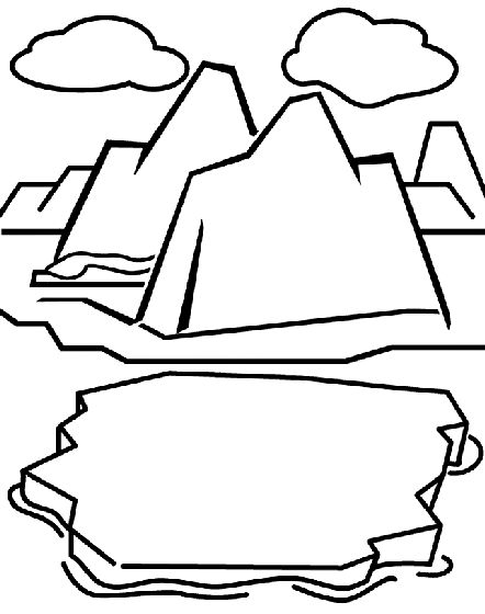 442x560 Arctic Clipart Black And White