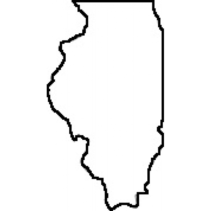 700x700 Illinois State Map Clipart