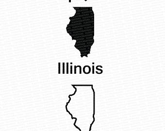 340x270 State Map Clip Art Illinois Michigan Minnesota Ohio West