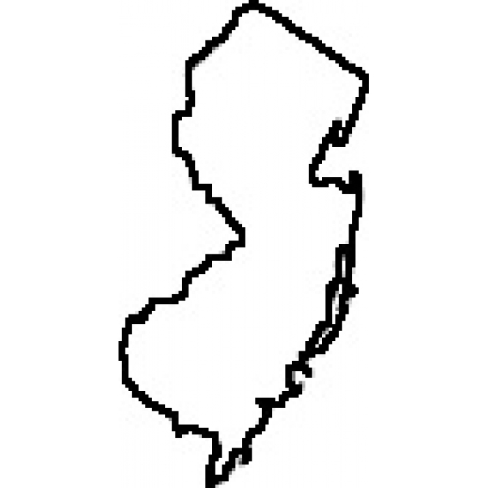 700x700 Black And White New Jersey Clipart