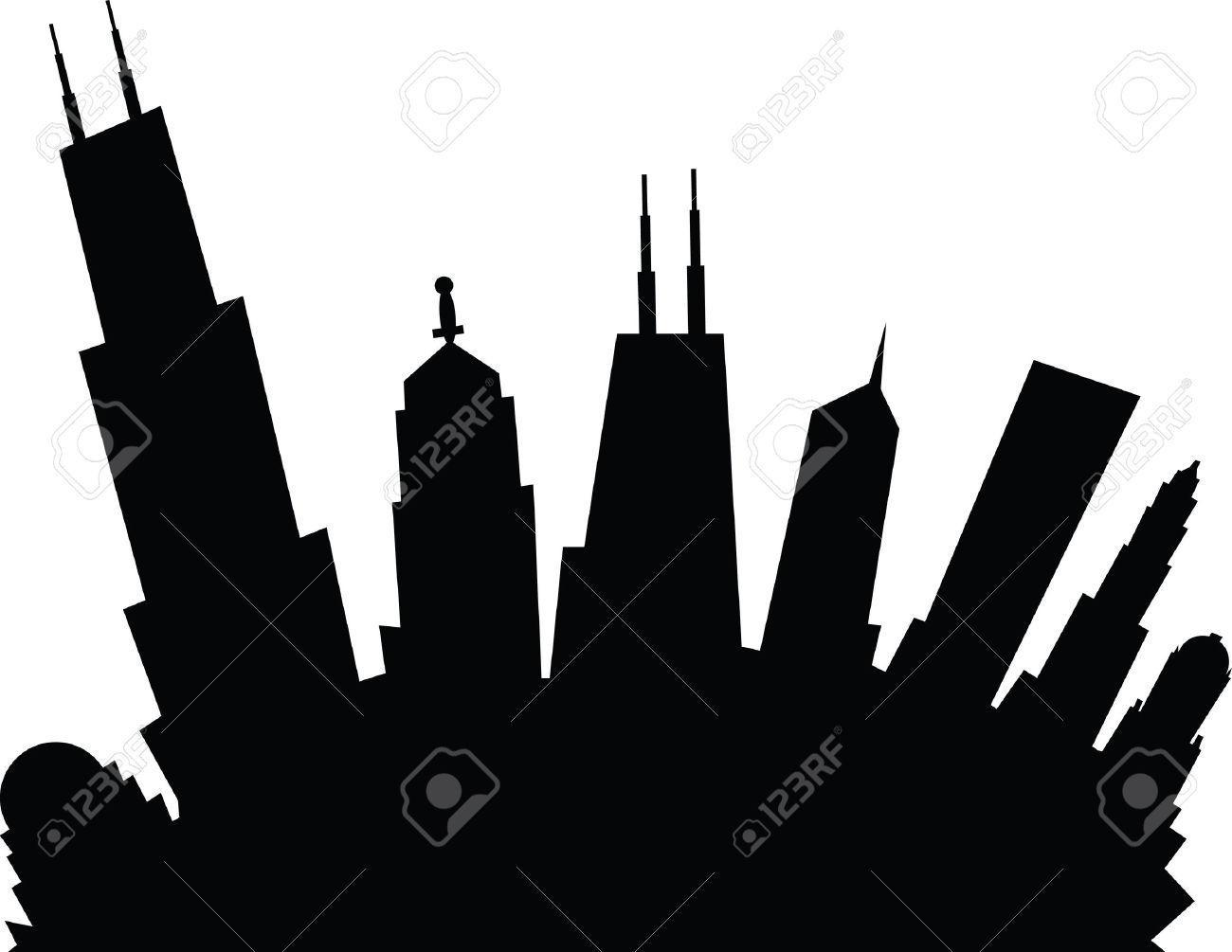 1300x1005 Chicago Skyline Clip Art