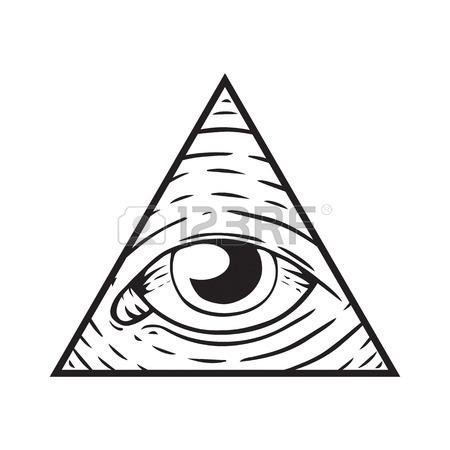450x450 Illuminati, Signe Magique Et Occulte Clip Art Libres De Droits