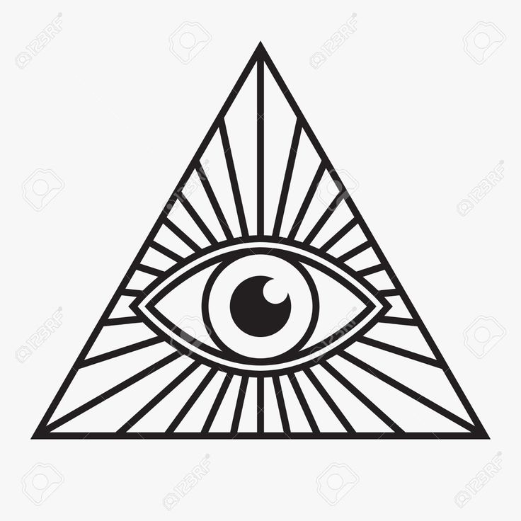 736x736 Illuminati Clipart Black And White