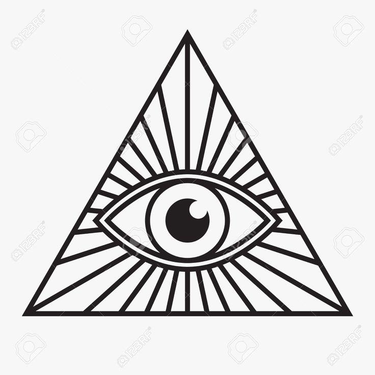 736x736 Illuminati Clipart Black And White