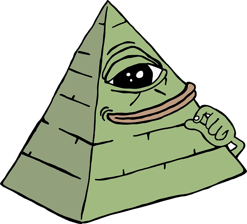 800x726 Rare Pepe Illuminati Stickers By Konpoonti Redbubble