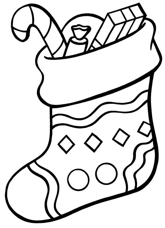 579x800 Stocking Coloring Page Printable Stocking Coloring Page