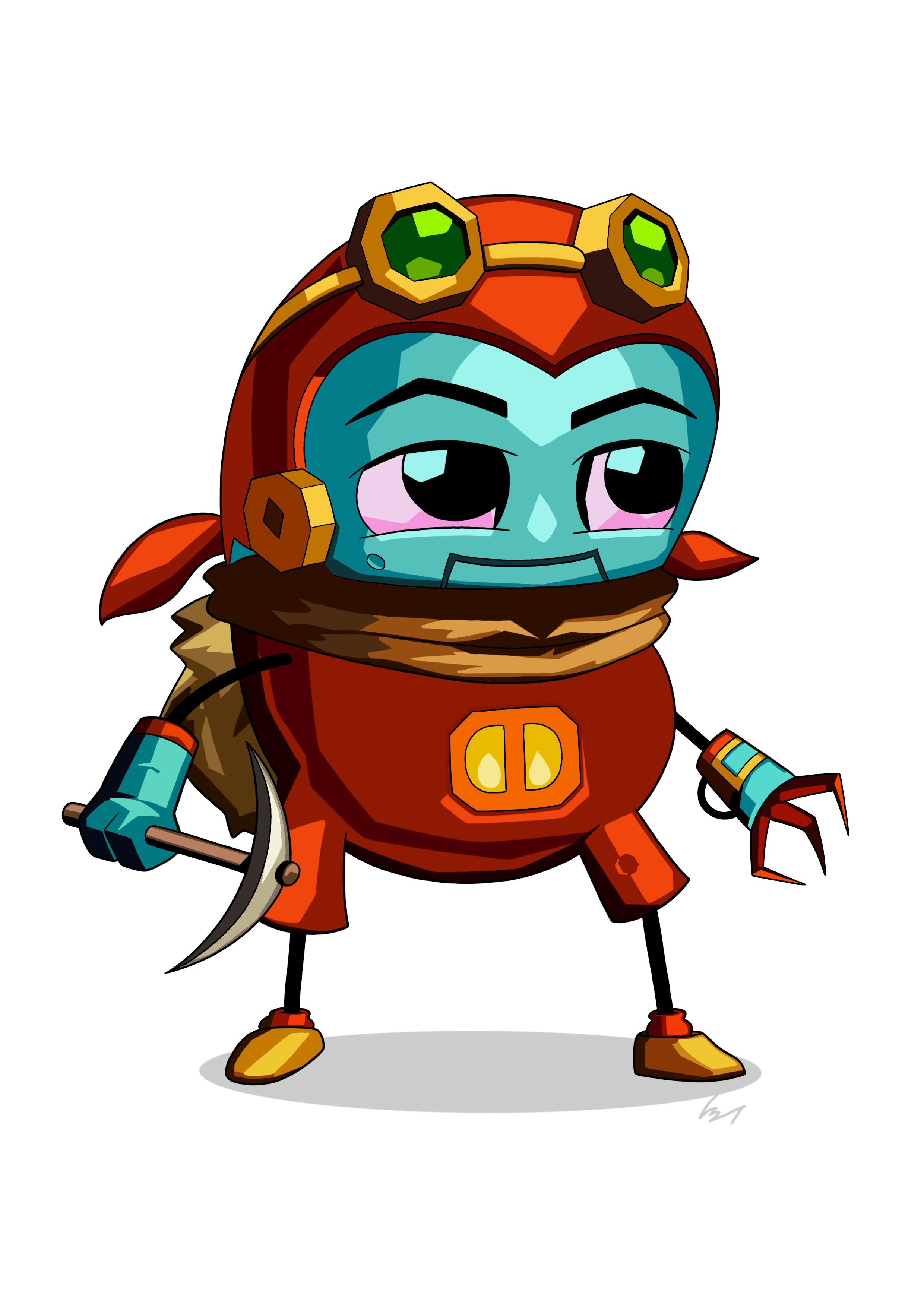 2480x3508 I'M Digging Steamworld Dig 2 (Punningly Awful, I'M Sorry