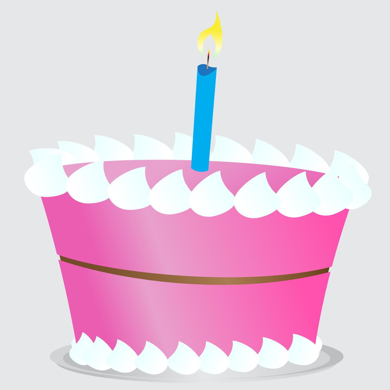1500x1500 Pink Birthday Cake Clipart 2