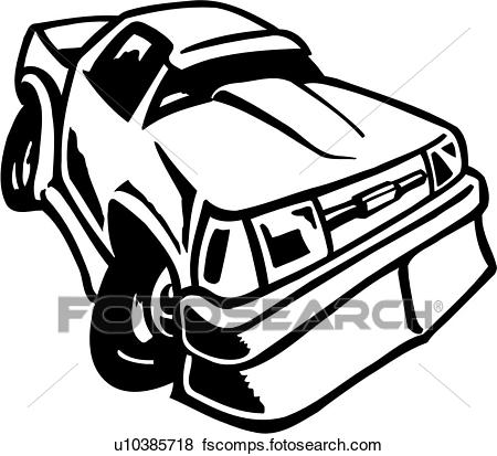 450x413 Clip Art Of , Sport Truck, Vehicle, Auto, Car, Toon, Cartoon, Car