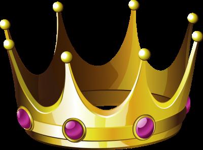 400x295 Purple Clipart Gold Crown