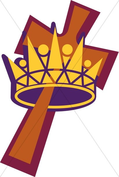 411x612 Clipart Of A Crown And Cross